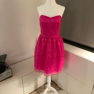 Lilly Pulitzer Strapless Pink Party Dress